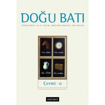 Doğu Batı Sayı 88: Çeviri - II